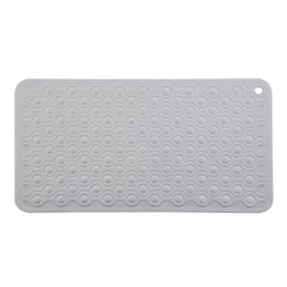 padded shower mat Promo Codes - Lightweight With Strong Suckers Toilet Easy Clean Non-Slip Pad Home Bath Mat Soft Eco Friendly Safety Bathroom Shower Rubber