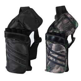 Bogenschießen pfeil zubehör online-Archery Black Tube Pfeilhalter Tragbarer Rückengurt Jagdtasche Zubehör # 250874