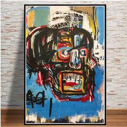 marcos de pared de tres piezas Rebajas Lienzo de pintura de pósters cuadros en la pared pintada Jean Michel moderna artista abstracto decorativo Decoración Plakat