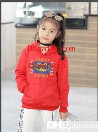2019 kleidung kinder koreanischen marken Marke Hoodies Kinder sogar Caps koreanische Ausgabe Mädchen Freizeit Bewegung Ärmel Kopf Pullover Kinderkleidung Babykleidung günstig kleidung kinder koreanischen marken