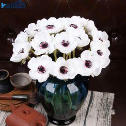 Vrais accessoires en Ligne-2020 moderne Anémone Real touch fleur artificielle de mariage mariée rose bouquet photographie accessoires pour la décoration de jardin ornement