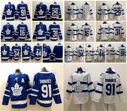 Chandail des Maple Leafs de Toronto 2019 John Tavares Auston Matthew journaliste Frederik Andersen Matthew Morgan Rielly Hockey sur glace cousu blanc bleu ? partir de fabricateur