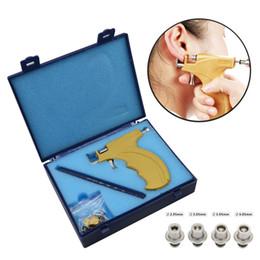 Orecchino online-Dell'orecchio professionale Orecchino penetrante pistola Tools Kit Body Piercing Gun Set CJ191116