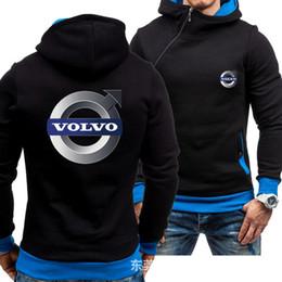 2019 men s oblique zipper jacket Outono-Inverno For Men Oblique Zipper Hoodies Moda Volvo camisola Roupa Homem Mulheres velo Hoodies Jacket Inverno Zipper men s oblique zipper jacket barato