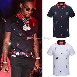 gola polo  Desconto Luxo Mens Designer camisas Polo T Verão Manga Curta Turn Down Collar Manga Curta Tops Polo