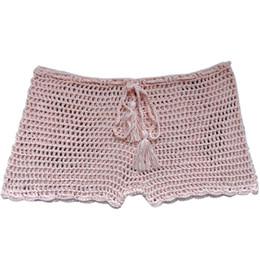 Traje de baño de mujer Pantalones cortos de playa transpirables elásticos Holiday tejido a mano Acrílico Sólido Moda Casual Verano Sexy desde fabricantes