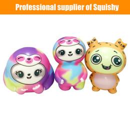 Детские игрушки онлайн-Squishy Folivora Восхитительные Squishies Мягкие ленивцы Медленно растущие фрукты Ароматические игрушки для снятия стресса squishi Toys подарки игрушки для мальчиков, девочек и малышей