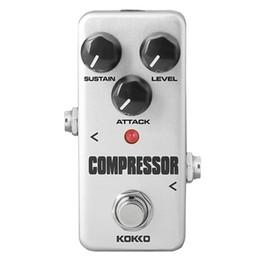 mini guitarra de efectos Rebajas KOKKO Fcp2 Mini compresor portátil pedal del pedal de efectos de guitarra guitarra parte