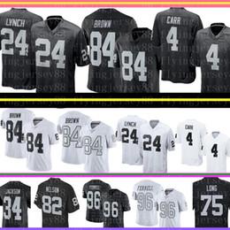 84 Jersey de Antonio Brown Oakland Brown Raiders 4 Derek Carr 24 Marshawn Lynch 34 Bo Jackson Camisetas de fútbol Ventas baratas desde fabricantes