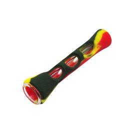 máquina de espetáculos Desconto Qualidade superior Silicone prometheus um rebatedor erva morcego vaporizador Tubos De Tabaco nano tubo de vidro com silicone PIPE VS Twisty Vidro Blunt Fumar