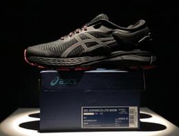 Qualidade da tecnologia on-line-Top Quality GEL-KAYANO 25 Homem de Longa Distância Tênis Com FlyteFoam Propel FlyteFoam Lyte Tecnologia Athletic Sneakers