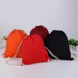 Canada 4 couleurs toile corde tirant sac à dos sac Halloween sac à main shopping coton toile fourre-tout sacs à bandoulière poche cordon sac de rangement cheap eco friendly storage bags Offre