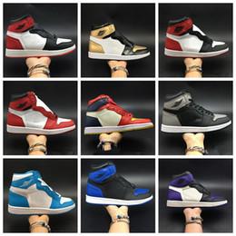 2019 barato, marcado, basquetebol, sapatos NIKE Barato OG Toe 1 Tênis De Basquete 2019 Marca Designer Chicago UNC Sombra Real Mens Moda 2.0 Sapatas Do Esporte Sem Caixa barato, marcado, basquetebol, sapatos barato