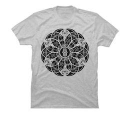 100% algodón O-cuello recto manga corta Hamsa Eye Lotus Mandala - Camiseta gráfica para hombre negro desde fabricantes