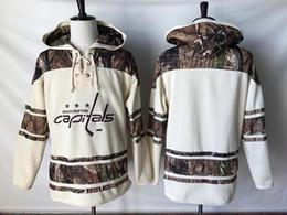 c53a70a2496 2019 NHL Washington Capitals Old Time Hockey Jerseys Camo Custom Hoodie  Pullover Sweatshirts Sport Winter Jacket sports capital promotion