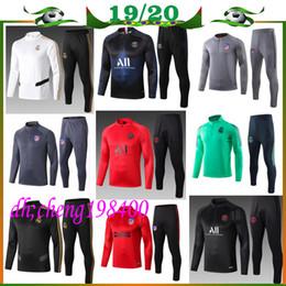 Футбольные куртки онлайн-19/20 реал мадрид костюм париж Реал свитерах реальная куртка мадрид 2019 2020 мужчин футбол футбол костюм спортивный костюм бег трусцой
