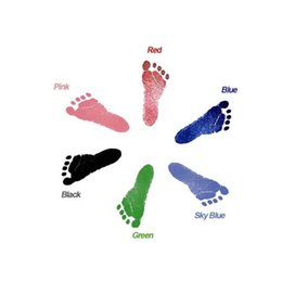 2019 cópia da mão do pé Mão do bebê E Pé Mesa de Impressão Descartável Não-tóxico Mão Do Bebê E Lembrança Do Pé Brinquedo Conjunto cópia da mão do pé barato