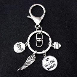 Ailes de coeur antiques en Ligne-Ailes meilleurs amis coeur amour porte-clés main dans la main rosey jure promesse chaîne principale porte-clés femmes hommes bijoux unisexe