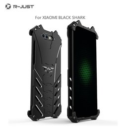 2019 edizione telefono nero Custodia R-JUST Metal per XIAOMI MI 8 / 8SE / 8 Explorer Edition 6 6Plus 6X 5C Max 3 2 Mix 2S black shark edizione telefono nero economici