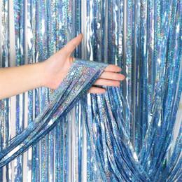 2020 fondos de la cortina de la foto Cortina de telón de fondo de 4 tamaños para decoración de bodas Fiesta de cumpleaños Cortinas de telón de fondo de fiesta de oro Fondo-Line Photo-Props rebajas fondos de la cortina de la foto