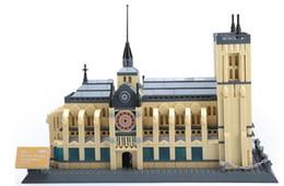 Notre Dame de Paris bloques de construcción juguetes Ladrillos figuras de acción Niños rompecabezas Bloques juguete Notre Dame de Paris Bloques ladrillos desde fabricantes