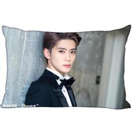 Almohada de corea online-Hot Korea-Pop Custom JaeHyun Satin Pillowcase 35x45cm (un lado) Impreso Zipper Seda Funda de almohada Funda de almohada con logotipo personalizado