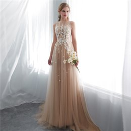 sexy dinner party dresses Promo Codes - 2019 Charming Champagne Evening Dress with Long Competition Dresses Evening Dress Cap Sleeve Plus Size for dinner party