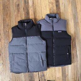 Revestimento reversível on-line-Patagonia Marca Mens para baixo o revestimento Outono Inverno Quente Coats reversível para baixo