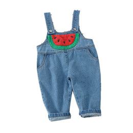 1215b16bd1b4ee 2019 mädchen jeans overall Kinder strumpfhose Kinder Jeans 2019 neue Sommer  Denim kinder Jumpsuit weiche Mädchen