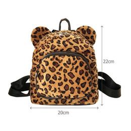 2019 mochilas de niña para leopardo escolar Oreja Oreja Animal Estampado de leopardo Mini Mochila Chica Hombro Estudiante Viaje Mochila escolar pequeña rebajas mochilas de niña para leopardo escolar