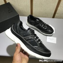 7a8fa5b13d61 NOUVEAU NO.1Dior Home B22 Baskets en cuir noir avec des bordures en tissu  technique blanc et soie Chaussures Baskets Baskets Avec Boîte