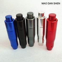 Manopole rosse online-Universale automatico Auto AT Car Gear Stick spostamento Button pomello del cambio leva del coperchio nero / rosso / blu / argento / titanio