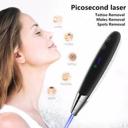 2019 máquina de remoção de manchas escuras Caneta Laser Picosegundo Terapia de Luz Azul Tatuagem Pigmento Cicatriz Remoção de Sardas Remoção de Manchas Escuras Máquina de Picosegundo Laser