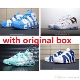 Billig Herren Air mehr Uptempo Basketballschuhe retro zu verkaufen Scottie Pippen 96 University Blue Sland Green Chrome Kinder Frauen Stiefel Turnschuhe von Fabrikanten