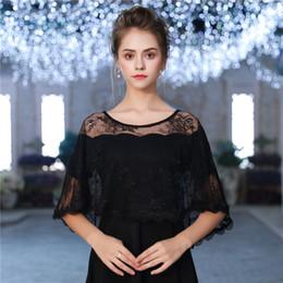 Élégant Sheer Black Lace Dress Summer femmes sans manches haute couche basse veste accessoires de mode de mariage châle cadeau à la main de mariage accès ? partir de fabricateur