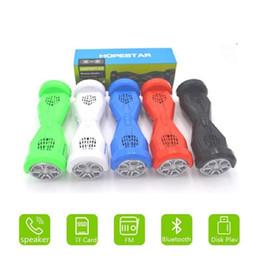 Bluetooth à scooter électrique à équilibrage automatique en Ligne-Portable sans fil Bluetooth haut-parleur Unique voiture électrique Balance Segway Self Balance Scooters Haut-parleur de conception 30pcs par DHL