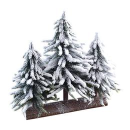 2019 neve natalizie Decorazione da tavolino della finestra del cedro degli ornamenti della decorazione del desktop della tela da imballaggio di caduta della neve di natale di 5 dimensioni che freeshipping neve natalizie economici
