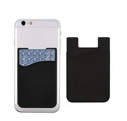 Funda adhesiva de silicona adhesiva adhesiva de silicona para teléfono celular para tarjeta de crédito Titular de identificación ultra delgado Cartera Funda Bolsillo desde fabricantes