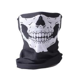 2019 bufanda del airsoft 5 PCS por lote Tactical Airsoft cara y cuello bufanda de Halloween esqueleto Patter bufanda media cara pasamontañas máscara bufanda del airsoft baratos