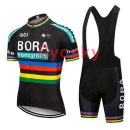 Vêtements uv en Ligne-bora 2019 noir vélo jersey cuissard uniforme vêtements de vélo vêtements de vélo vêtements hommes court 9D Gel Pad Maillot Culotte Costume