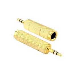 aparelhos de som baratos Desconto Tomada de 6,5 mm Fêmea para 3,5 mm Plug Masculino Stereo Audio Adapter Jack Converter Microfone
