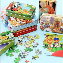 montessori giocattoli anno vecchio Sconti Jigsaw puzzle per bambini bambini 60 pezzi di legno Puzzle primi giocattoli educativi per bambini Giocattoli per l'asilo