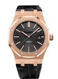 Relojes de buceo de alta calidad online-Reloj deportivo para hombre de alta calidad mecánico automático Royal Oak Offshore Series Relojes de buceo Reloj de cuero suizo reloj deportivo para hombre famoso