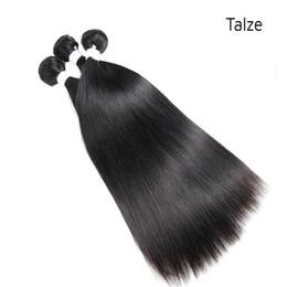 Armadura barata del pelo humano de la buena calidad online-Venta al por mayor barato buena calidad 100 g / pc natural negro paquete de cabello humano indio recto extensiones de armadura de cabello humano