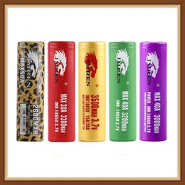 Hight Quality IMR 18650 Batterie 3000mah 3200mah 3300mah 3500mah 40A imprimer léopard MAX50A 50A 2600mAh Batterie Rechargeable HOT ? partir de fabricateur