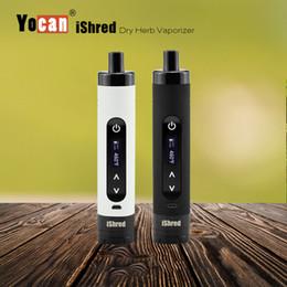 100% originale Yocan iShred Starter Kit Dry Herb Vaporizzatore Ceramic Vape Chamber Built-in Grinder 2600Mah 18650 Batteria con schermo LCD E-cig cheap ceramic screens da schermi in ceramica fornitori