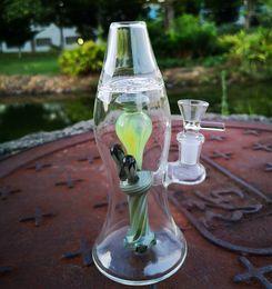 2019 flaschen-tupfen 2019 Newset Heady Glaspfeife Thick Wasserpfeifen Lava-Lampen-Öl-Dab Rigs 14mm Female Joint Bottle Bong mit Bowl XL-LX3 günstig flaschen-tupfen