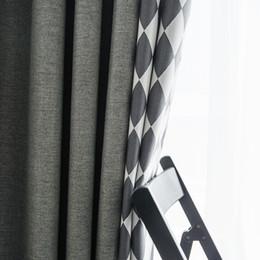 tende oscuranti grigio Sconti Tende a traliccio in bianco e nero con diamanti tende da camera da letto soggiorno tende oscuranti grigie