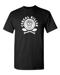 erwachsene grafiken Rabatt Getreide-Mörder-Schädel-Serienhalloween-gekreuzte Knochen-Kostüm-beängstigendes Nahrungsmittelmilch-Horror-T-Stück Lustiges Spaß-Wortspiel-Grafik das T-Shirt der erwachsenen Männer