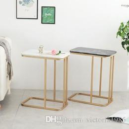 2019 einfache wohnmöbel Neue Möbel Das nordische Marmor Ecksofa Teetisch Mobile Arche Nachttisch Creative Coffee Table Wohnzimmer Beistelltische